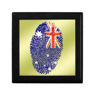 Australian touch fingerprint flag keepsake boxes