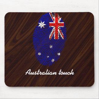 Australian touch fingerprint flag mouse pad