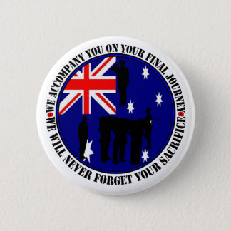 Australian traps Heroes Funeral 2 Inch Round Button