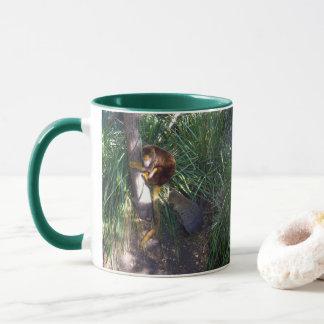 Australian Tree Kangaroo, Green Coffee Mug. Mug