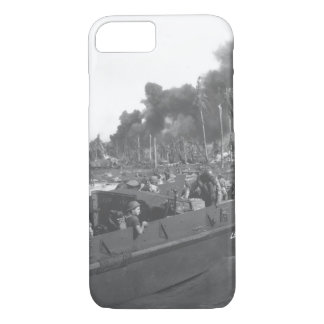 Australian troops storm ashore the first_War Image iPhone 7 Case