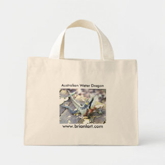 Australian Water Dragon Mini Tote Bag
