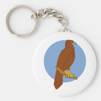 Australian Wedge-tailed Eagle Perch Drawing Keychain