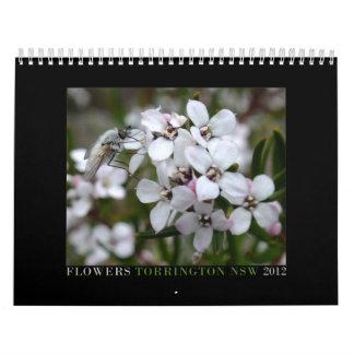 Australian wildflowers calendar