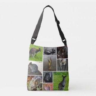 Australian Wildlife Collage, Crossbody Bag