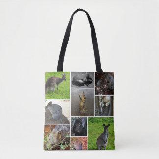 Australian Wildlife Collage, Tote Bag