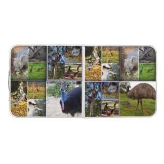 Australian Wildlife Photo Collage, Folding Table. Beer Pong Table