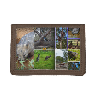 Australian Wildlife Photo Collage, Trifold Wallets