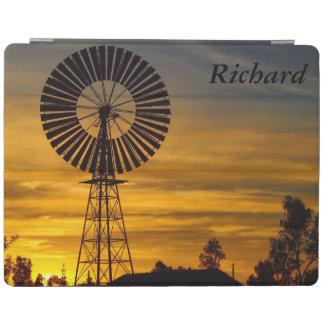 Australian windmill sunset IPad cover