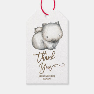 Australian Wombat Neutral Thank You Gift Tags