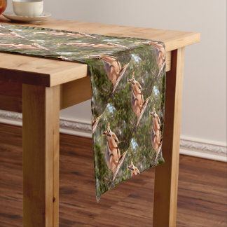 Australian yellow-footed rock wallaby short table runner