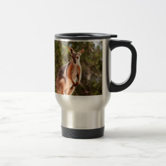 Australian yellow-footed rock wallaby travel mug