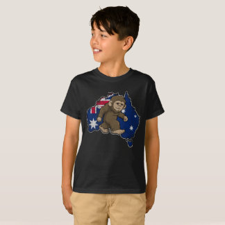 Australian Yowie Bigfoot Australia Flag Squatch T-Shirt