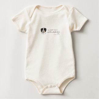 AustralianShepherdSisterBlue Baby Bodysuit