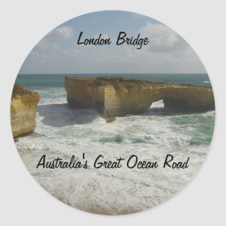 Australia's London Bridge Classic Round Sticker