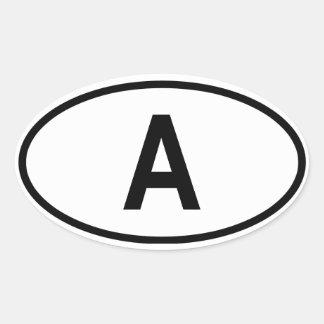 "Austria ""A"" Oval Sticker"