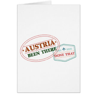 Austria Been There Done That Card