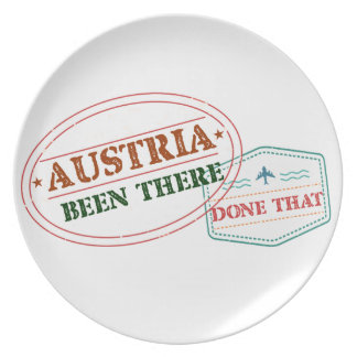 Austria Been There Done That Plate