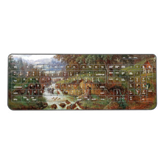 Austria Cabin Waterfall Creek Wireless Keyboard