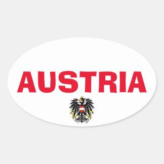 Austria European Oval Style Sticker