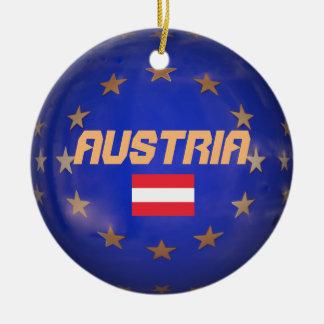 Austria European Union Ceramic Ornament