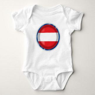 Austria Flag, Austrian Colors, Baby cloth Baby Bodysuit