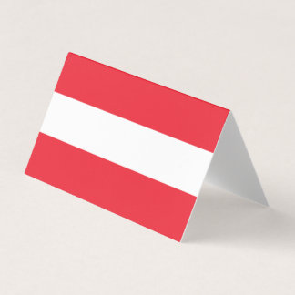 Austria Flag Business Card