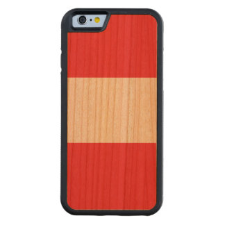 Austria Flag Carved Cherry iPhone 6 Bumper Case