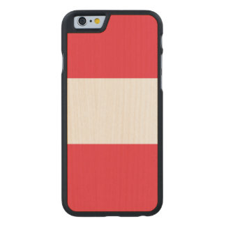 Austria Flag Carved Maple iPhone 6 Case
