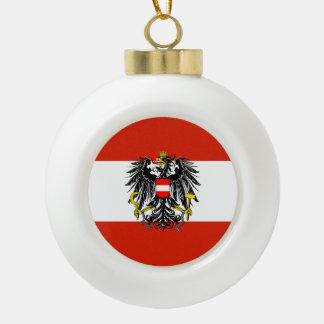Austria Flag Ceramic Ball Christmas Ornament