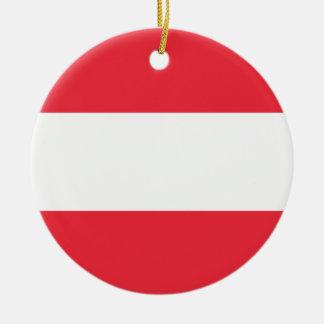 Austria Flag Ceramic Ornament
