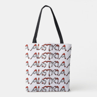 Austria Flag Color Typography European Country Tote Bag