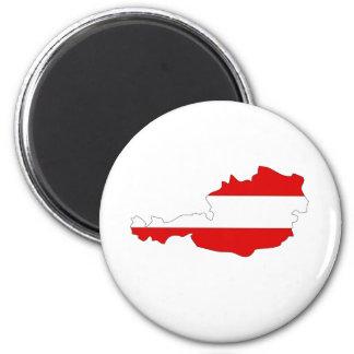 Austria Flag Map full size Magnet