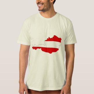Austria Flag Map full size T-Shirt
