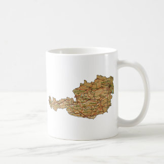 Austria Flag ~ Map Mug