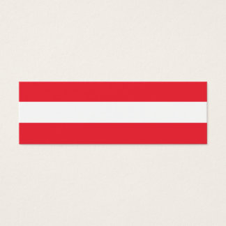 Austria Flag Mini Business Card