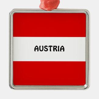 AUSTRIA: Flag of Austria Metal Ornament