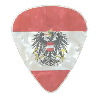 Austria flag pearl celluloid guitar pick