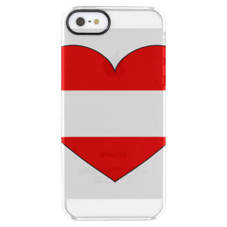 Austria Flag Simple Clear iPhone SE/5/5s Case