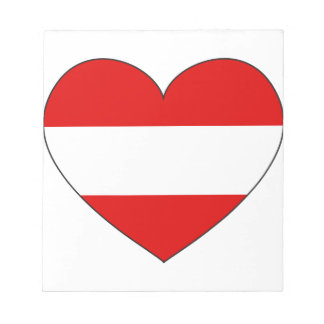 Austria Flag Simple Notepad