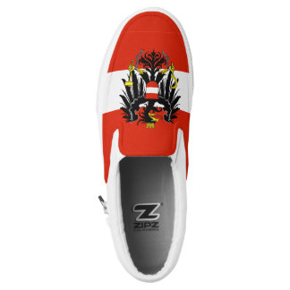 Austria Flag Slip-On Sneakers