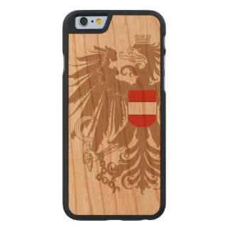 Austria Flag Vintage Carved Cherry iPhone 6 Case