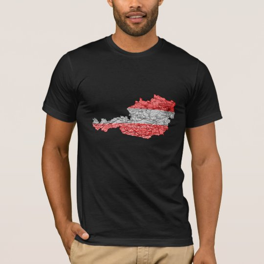 Austria Flagcolor Map T-Shirt
