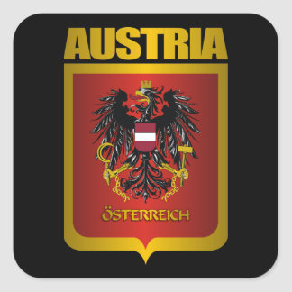 Austria Gold Square Sticker