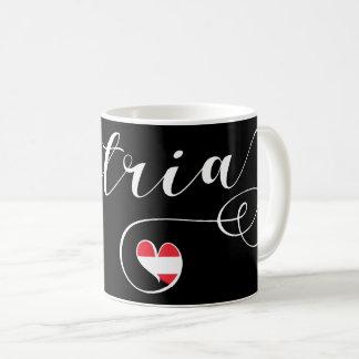 Austria Heart Mug, Autrian Flag Coffee Mug