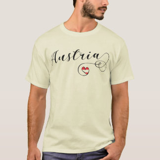 Austria Heart T-Shirt, Austrian Flag T-Shirt
