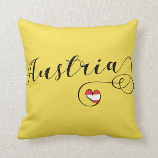 Austria Heart Throw Cushion, Vienna Throw Pillow