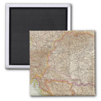 Austria Hungarian Empire Map Square Magnet