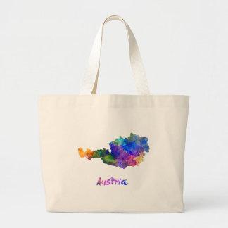 Austria in watercolor large tote bag