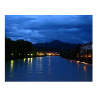 Austria - Innsbruck - Blue Night Postcard